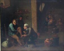 TABLEAU ANCIEN-XVII EME-HOLLANDAIS-GOUBAU-CHIRURGIEN-HST-FLAMAND-