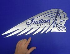 "Indian Motorcycle Sign Landspeed Bonneville Salt Flats 24"" x 7-3/8"" 14Ga."