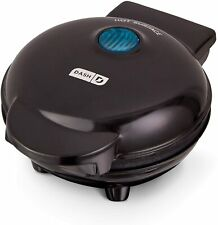 Mini Waffle Maker, 4 Inch, Black, QUICK & EASY