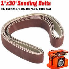 1'' X 30'' 7Pcs Sanding Belts 80-1000 Grit Sander File Polishing Set
