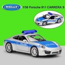 WELLY Alloy 1/36 Scale Porsche  911 CARRERA S Police Car Toys Diecast Car Model
