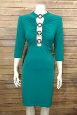 Moda International Victoria Secret Womens Knit Dress M Green Cutout Sexy