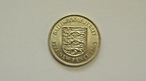 1980 Bailiwick of Jersey Three Lions Shield Five New Pence 5p Coin