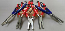 SET OF 5 FLAT JAW BALL & DIMPLE HOOK JAW PLIERS JEWELRY FORMING BENDING RIVETING