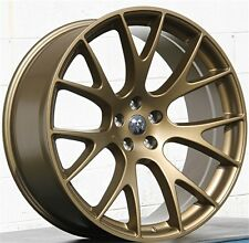 (4) 22x9 5X115 SRT Style Bronze Wheels Chrysler 300C Hellcat Challenger Charger