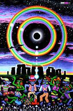 Backdrop UV Luz Negra Fluorescente Arte Psicodélico Colgante Pared Psy Goa Tapiz