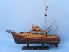 "Jaws Movie - Orca Model  20"" Wooden Fishing Boat - Wood Assembled Fishing Ship"