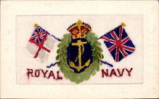 World War 1 Regimental silk. Royal Navy. Made in Switzerland.