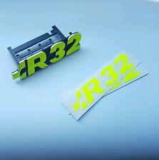2X Aufkleber VW Golf R 32 Emblem Schriftzug R32 NEON Farben