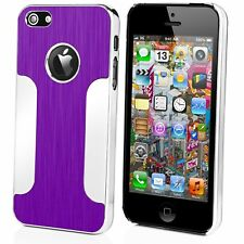 Para Apple iPhone 4S Aluminio Parachoques Funda Cubierta trasera dura cromada de mettelic 4-UK