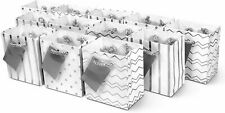 Metallic Silver Paper Gift Bags Birthday Party Supplies Gift Bags Extra Small