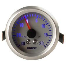 52mm 0~30in.Hg/0~20PSI Auto Car Turbo Boost Gauge Meter turbocharged Meter New