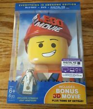 The LEGO Movie: Everything Is Awesome Edition (3D + 2D Blu-ray & DVD) RARE NEW