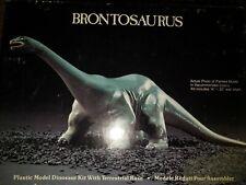 Vintage Lindberg Brontosaurus Plastic Model Dinosaur Kit Sealed 1987 Rare
