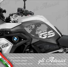 2 Adesivi BMW R 1200 GS LC 2017 RALLYE EXCLUSIVE cover Map grey