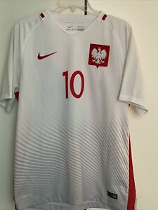 Nike 2016 Poland National Team Soccer Jersey Mens L EUC - KRYCHOWIAK