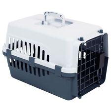 Pet Carrier Cage Dog Cat Kitten Puppy Travel Vet Transport Portable White Grey