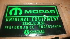 1970's DODGE PLYMOUTH IMPERIAL CHRYSLER MOPAR ORIGINAL EQUIPMENT BATTERY DECAL