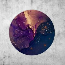 Alcohol Ink Blue Space Watercolour With Stars Mouse Mat Pad Mousepad For PC Mac