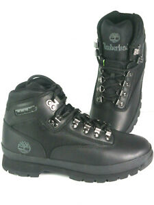 Mens Timberland Euro Hiker Mid Boot - Black Full Grain Leather, Size 7 M