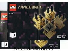 LEGO- Instruction/Notice for Set 21107 Minecraft Micro World - The End   NEUF