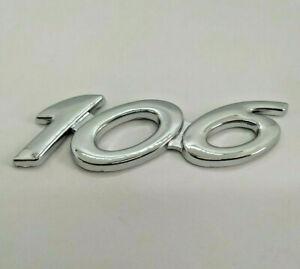 ⭐🇫🇷 NEUF MONOGRAMME 106 PEUGEOT PHASE 3 LOGO COFFRE HAYON GTI XSI HDI D TD