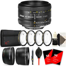 Nikon AF FX NIKKOR 50mm f/1.8D Lens for Nikon D7000 D7100 with Accessory Bundle