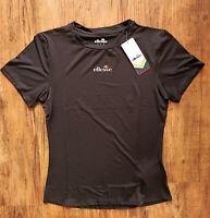 ellesse Aprilla Trainingsshirt Damen T-Shirt Gym Fitness Schwarz SRC06378-BLK