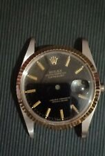 Rolex 16013 18k Fluted bezel, Black Dial, sapphire glass, case back & case Mint