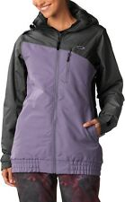 NWT OAKLEY Quebec Insulated JACKET Purple Gray PRO RIDER 511552 Womens L COAT