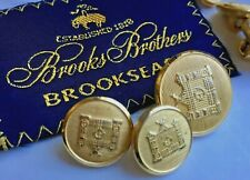 Brooks Brothers Light Brass Metal 9 Buttons set for Blazer or suit