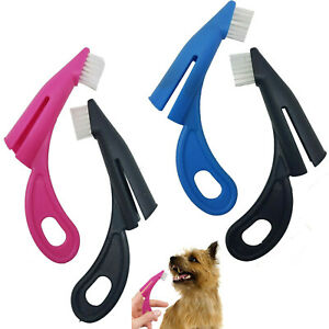 2PCS Pet Dog Cat Puppy Kitten Teeth Cleaning Finger Tooth Brushes Dental Care
