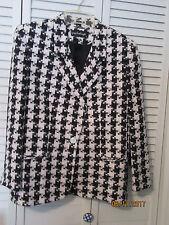 Jacket Giorgio Sant'Angelo 10P blk/wht houndstooth 3 pockets fully lined blazer