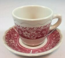 Syracuse China Strawberry Hill Restaurant Coffee Cup & Saucer Kent Winthrop