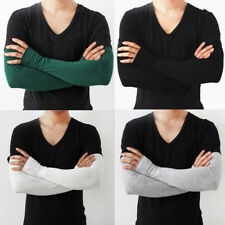 1 Pair Men Cooling Arm Sleeves Cover UV Sun Protection Outdoor Sports Unisex