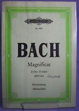 Bach - Noten für Klavier Piano - Magnificat BWV 243 Klavierauszug