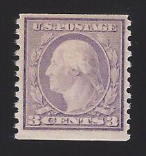 US #456 1914-16 Violet Type I Wmk 190 Perf 10 Vert Mint OG LH F-VF Scv $250