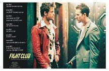 Fight Club - Rules Movie Poster 24x36 Pitt Norton Fincher 45325