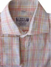 NEW & LINGWOOD Shirt Mens 14 S White – Multi-Coloured Check