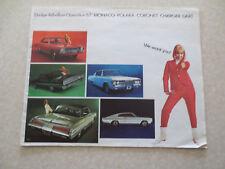 1967 Dodge car advertising booklet - Polara & Coronet & Charger & Monaco & Dart