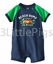 Carter's Beach Surfing Bodysuit Onesie One-piece Romper Toddler Cute Baby Boy