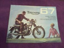 1967 Triumph motorcycle sales brochure(Reprint) All 1967 Model Triumph's $18.50