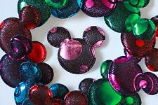 100! Stunning Metallic Padded Mickey Mouse Embellishments Mix - 4cm/1.5""