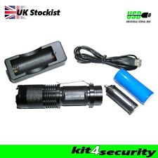 NIGHTHAWK 500 Rechargeable cree Torch door supervisor bouncer security police