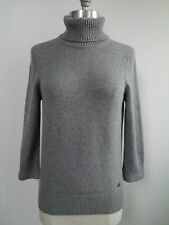CHANEL gray 100% cashmere embroidered handbag detail sweater 38 WORN ONCE