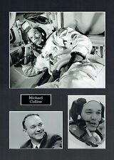 Michael COLLINS Apollo 11 16x12 Mounted Photo Astronaut Space Montage