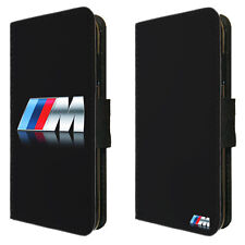 BMW Inspired Flip Phone Faux Leather Case Cover M Sport MSport wheel logo