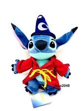 Disney Paris Sorcerer Stitch Fantasia Plush Soft Toy 26cm  BNWT Free Shipping