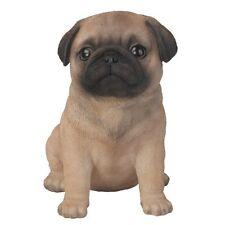 Pug Puppy Dog Ornament in GIFT BOX Pet Pal Vivid Arts Indoor & Outdoor Garden