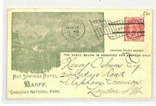 CANADA Montreal Stationery *Hot Springs Hotel* RAILWAY 1901 {samwells} CG154
